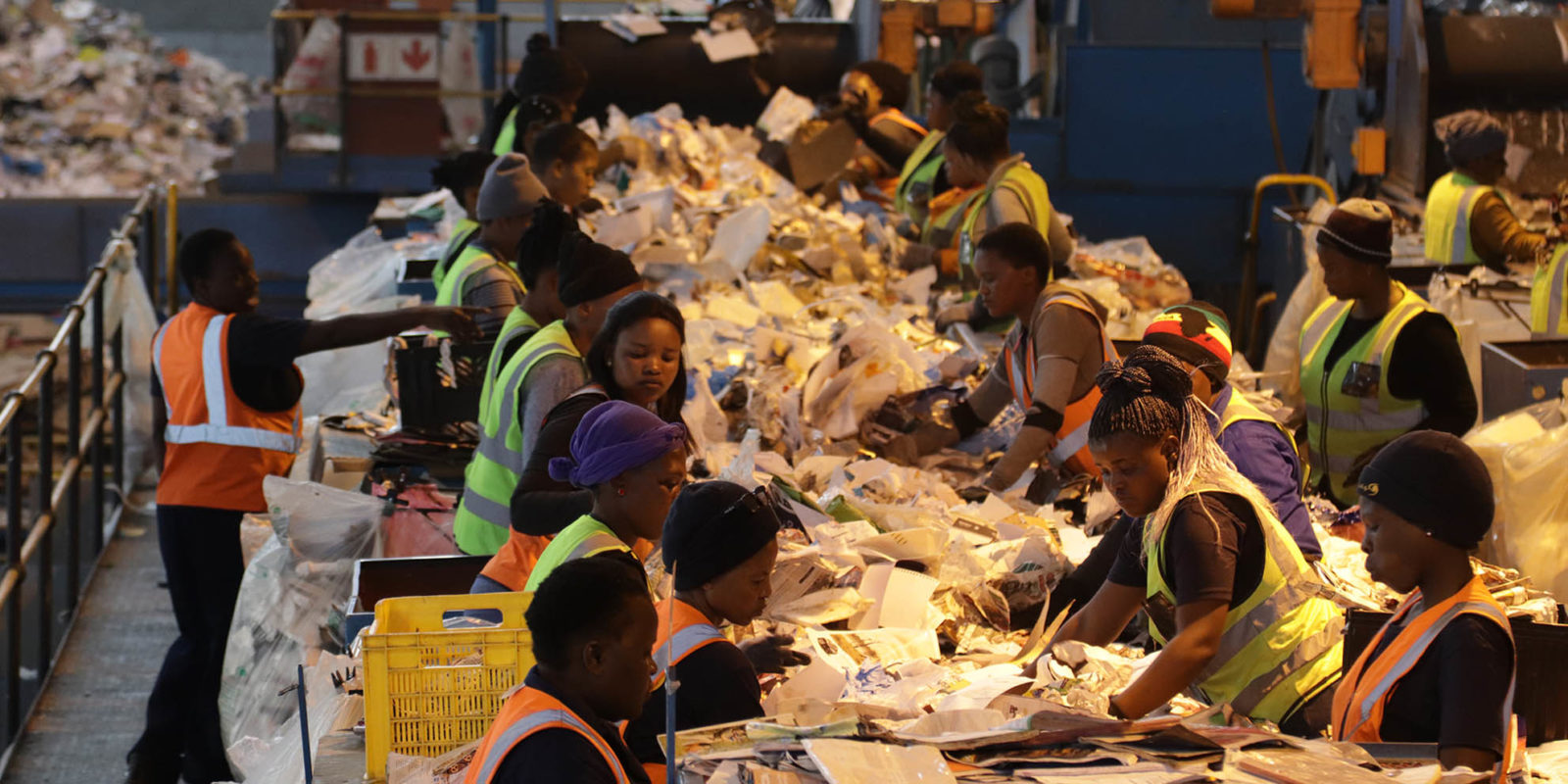 Employees of the Kraaifontein Integrated Waste Management Facility.
