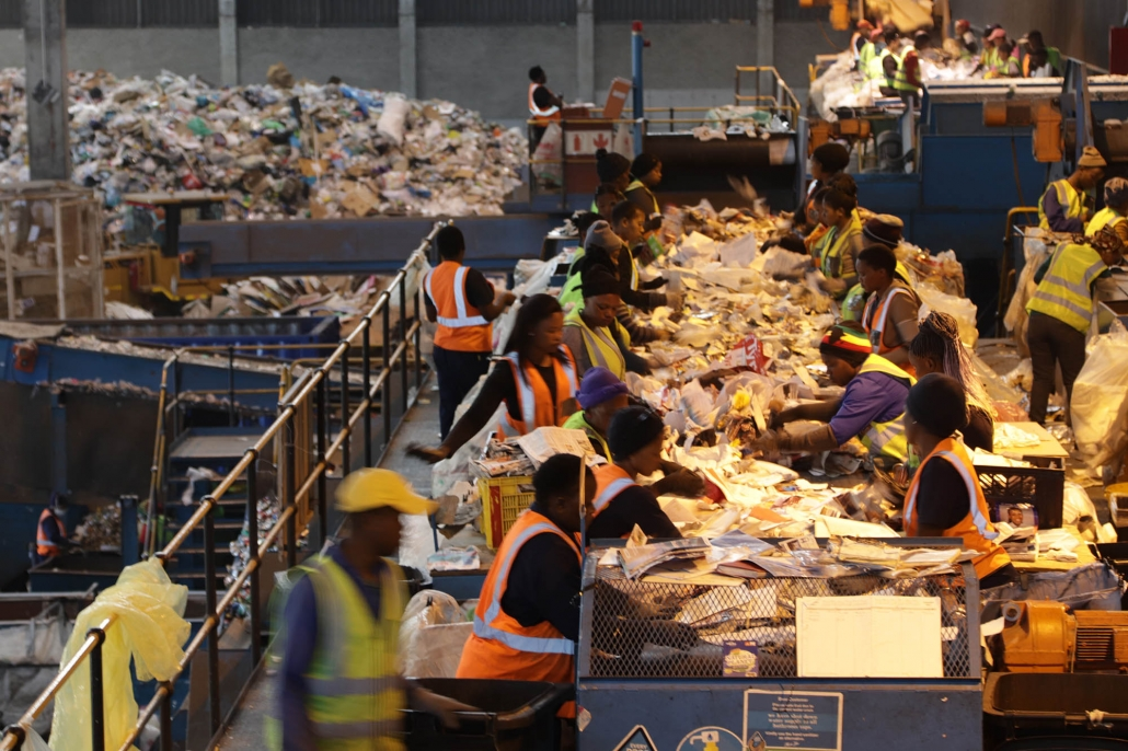 Employees of the Kraaifontein Integrated Waste Management Facility in Cape Town
